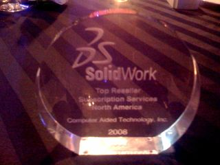 SOLIDWORKS Top Reseller Renewals 2008