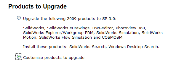 Products to upgrade 1
