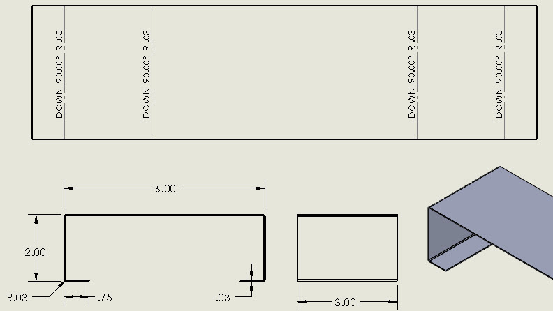 How to Show Sheet Metal Bend Lines in a Drawing - Computer Aided