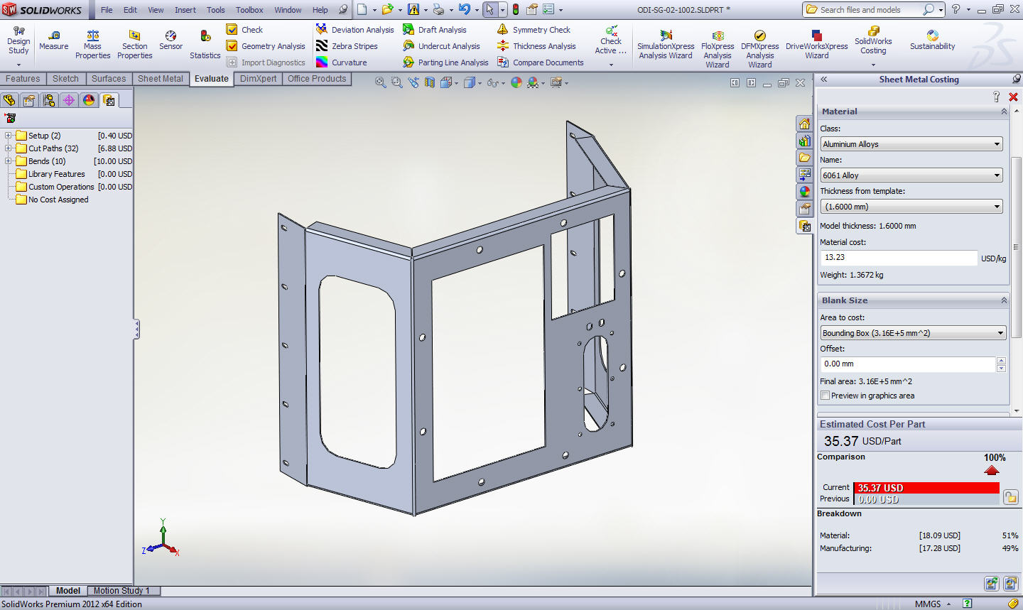 Using the Costing Tool in SolidWorks - Computer Aided Technology