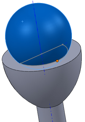 SolidWorks Mate Sphere to Hole