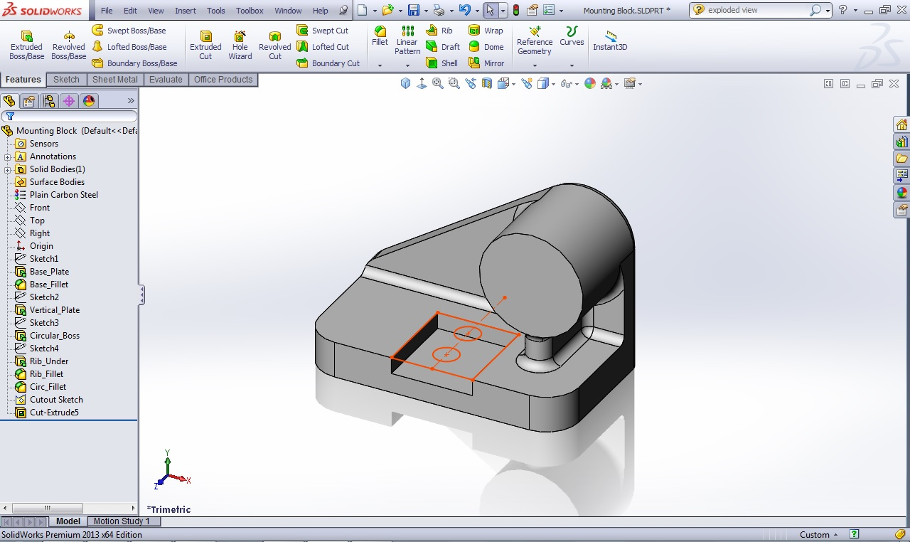 """FeatureManager Design Tree """"Flat Tree"""" option – New for SOLIDWORKS ..."""