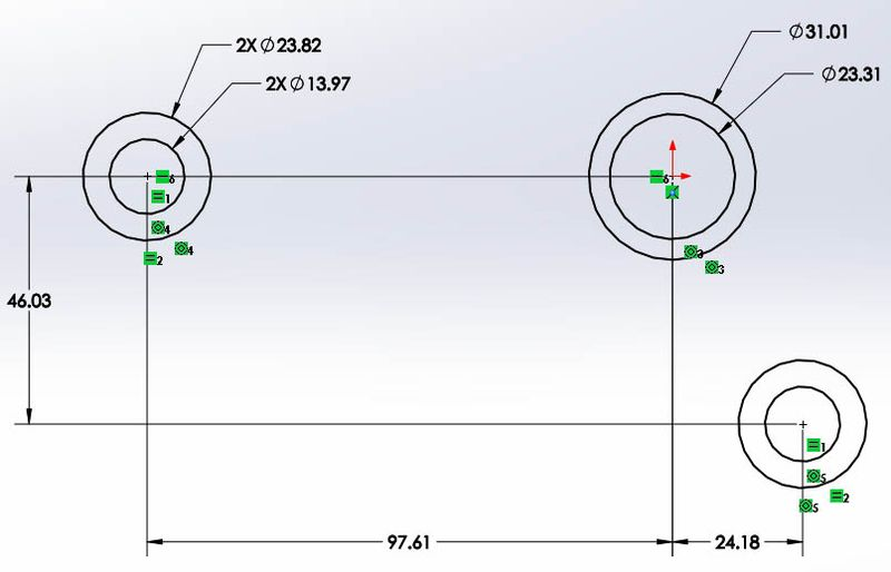 how to make dimensions equal in solidworks