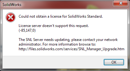 "How to Troubleshoot the ""Could not obtain a license for SOLIDWORKS"