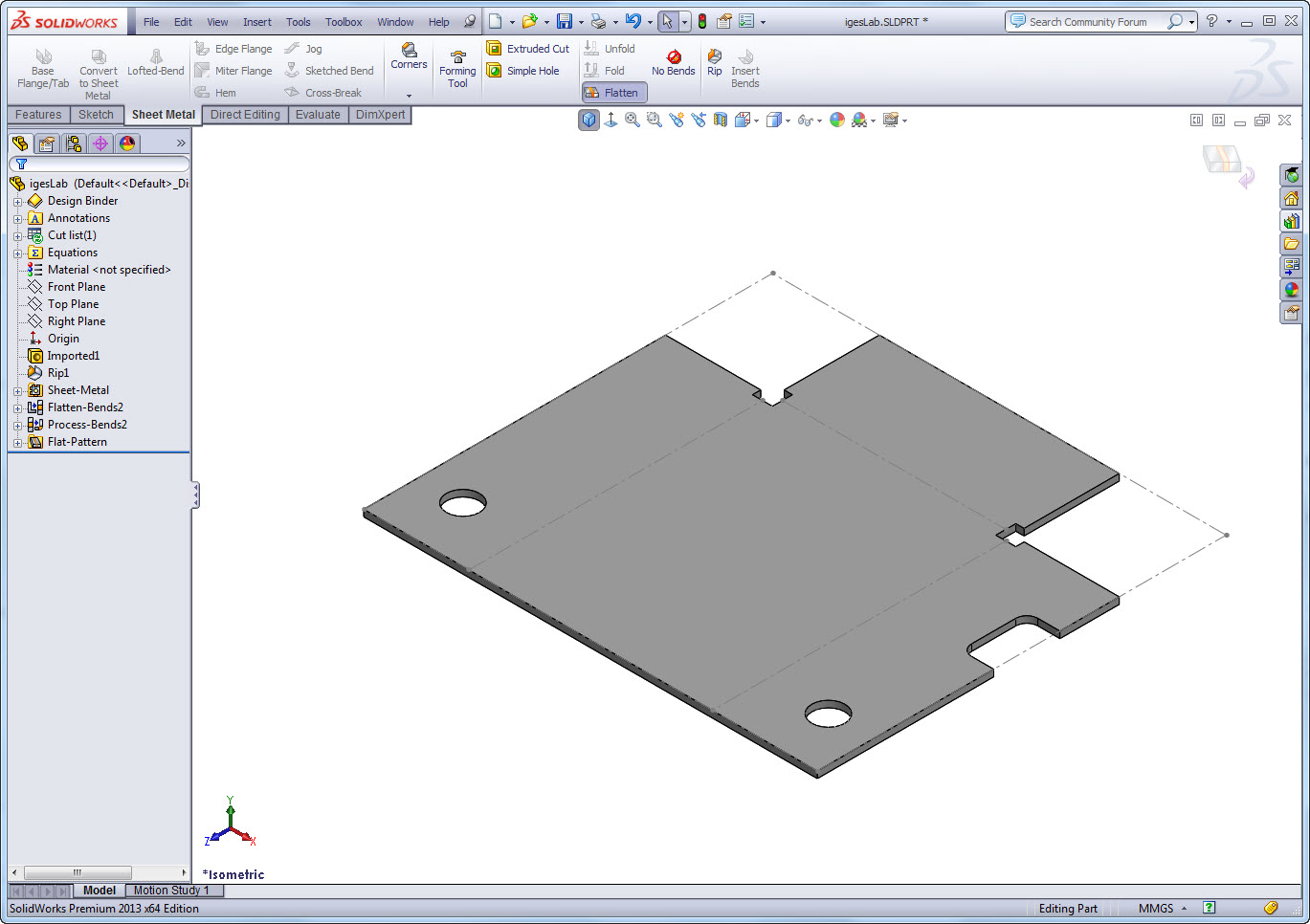 Convert to Sheet Metal in 3 easy steps (or as little as1