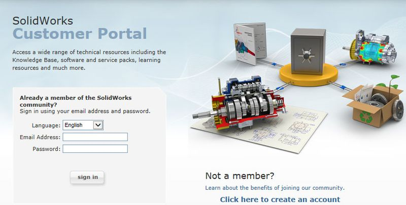 Solidworks_customer_portal_login
