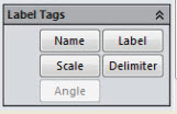Label Tags window