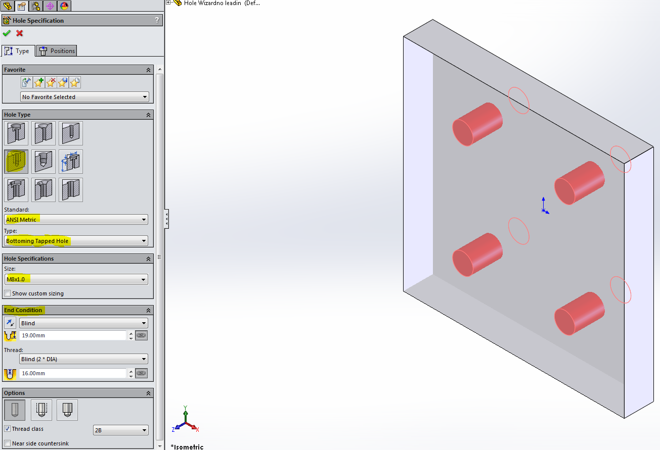 SOLIDWORKS: USING HOLE WIZARD AND HOLE TABLE TOGETHER