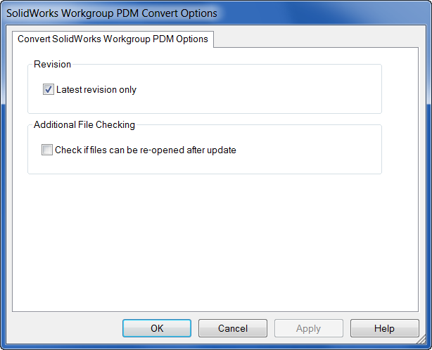 SolidWorks_Workgroup_PDM_Convert_Options