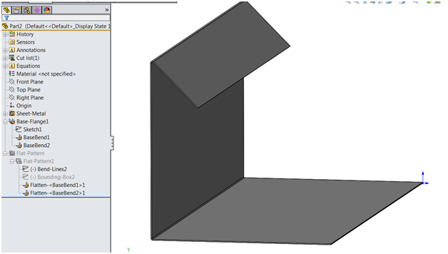 Solidworks Sheet Metal The Angle Of This Bend Fell