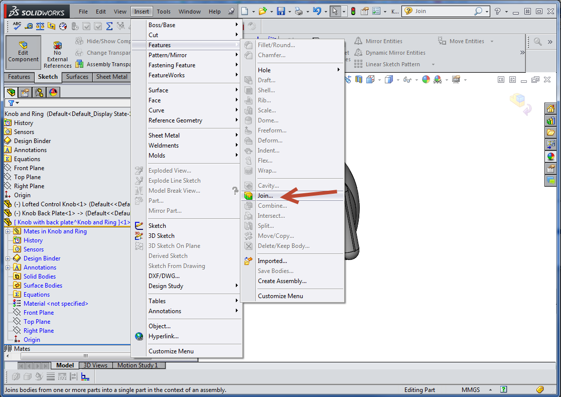 The SOLIDWORKS JOIN feature  What's that? - Computer Aided
