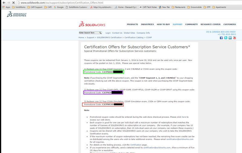 Certification Offers For Subscription Service Customers