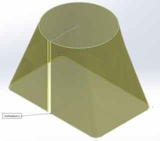 SOLIDWORKS Lofted Bends