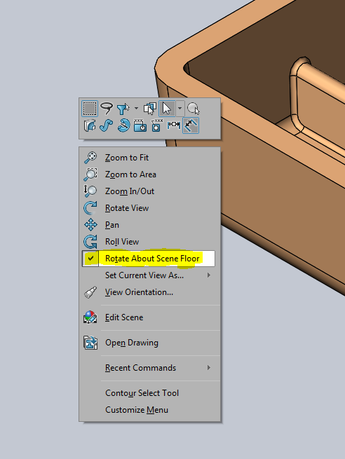 SOLIDWORKS: Can't rotate model 360 degrees