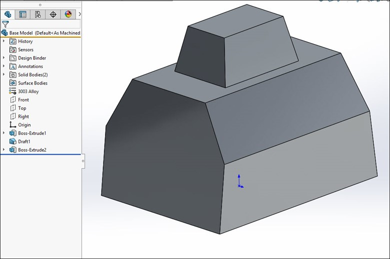 3D Weldment Sketch in SOLIDWORKS