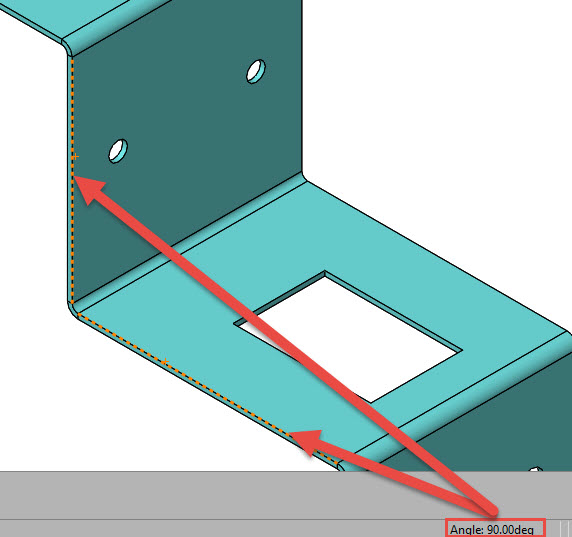 Ctrl select two non parallel lines to get the angle between them