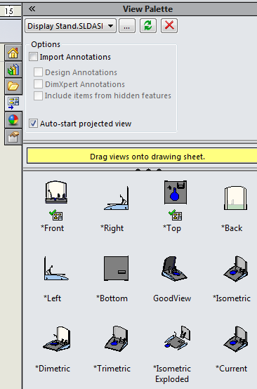 Image result for solidworks view palette