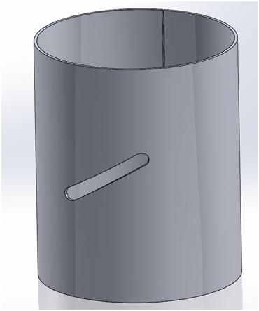 Creating A Slot In A Solidworks Sheet Metal Cylinder