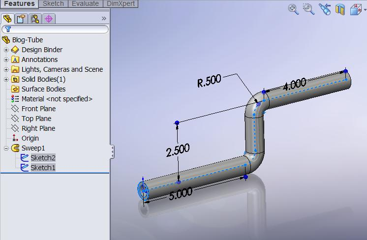 Getting The Overall Length Of A Bent Tube Computer Aided